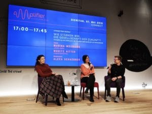 Panel-Diskussion bei der Eröffnung des Amplifiers